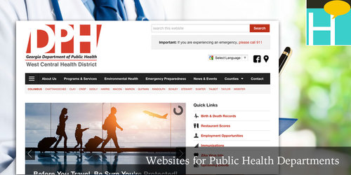 websites for public health