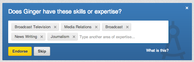 linkedin endorsement