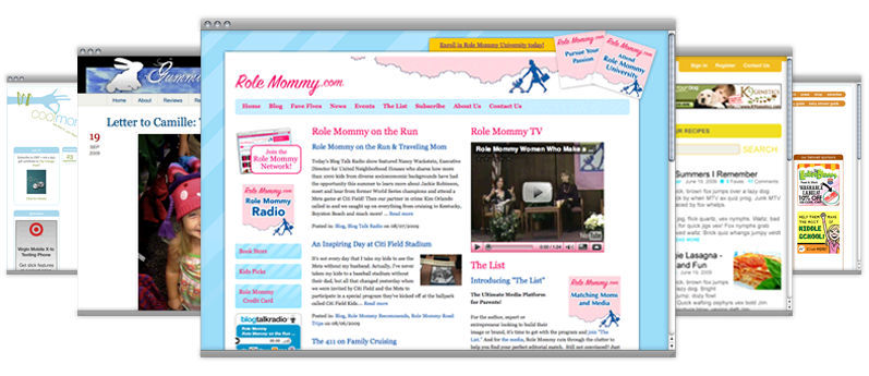 mommy blog site design