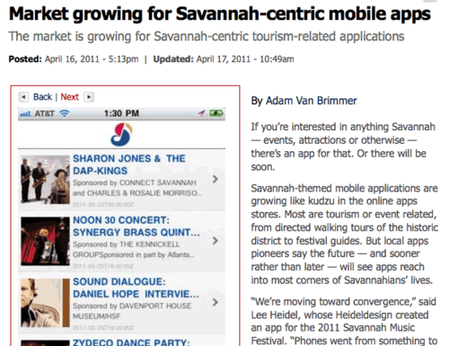 Savannah Morning News App Story