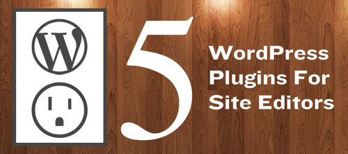 Top 5 Wordpress Plugins for Site Editors