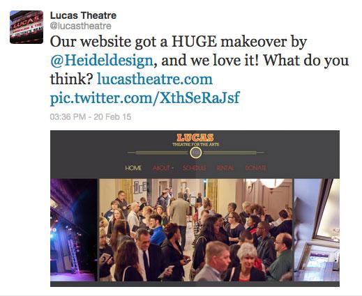 Lucas Theatre Twitter