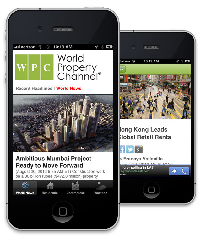 World Property Channel iPhone and Android Apps